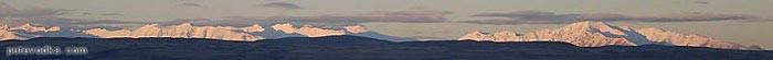 Новая Зеландия. Остров Южный. Горная панорама.