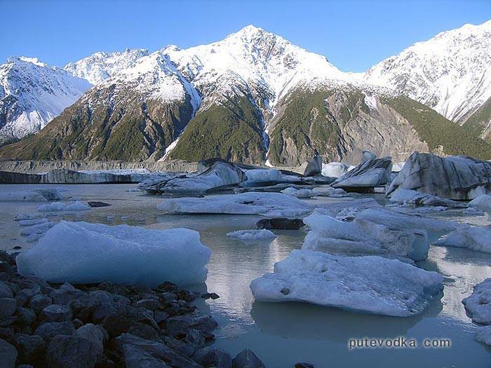 Новая Зеландия. Остров Южный. Ледник Тасмана.