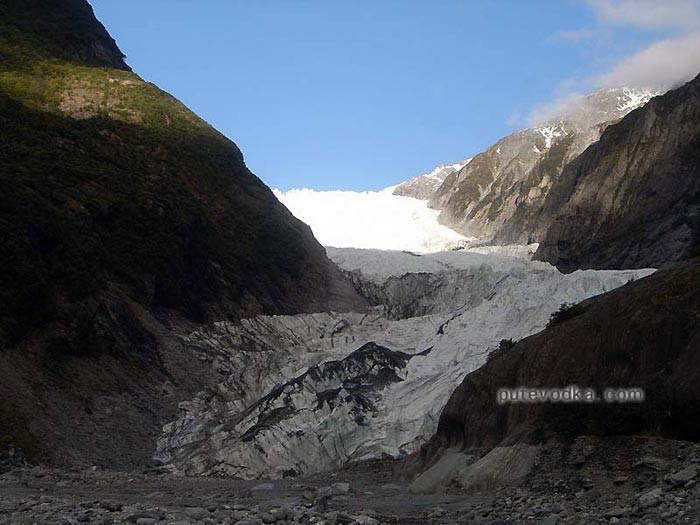 Новая Зеландия. Остров Южный. Ледник Фокс.