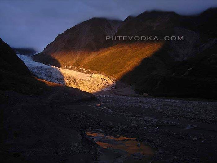 Новая Зеландия. Остров Южный. Ледник Франца.