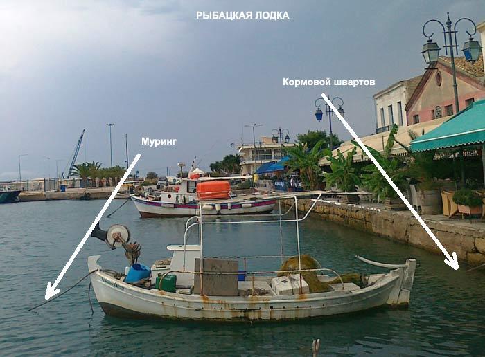 Муринг. Рыбацкая лодка.