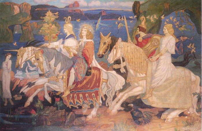 Ирландия. «Сиды-всадники». Картина XIX века.