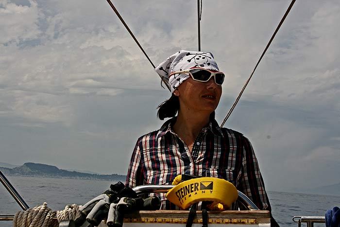 Яхта Пепелац. В море. Ира Злобина.