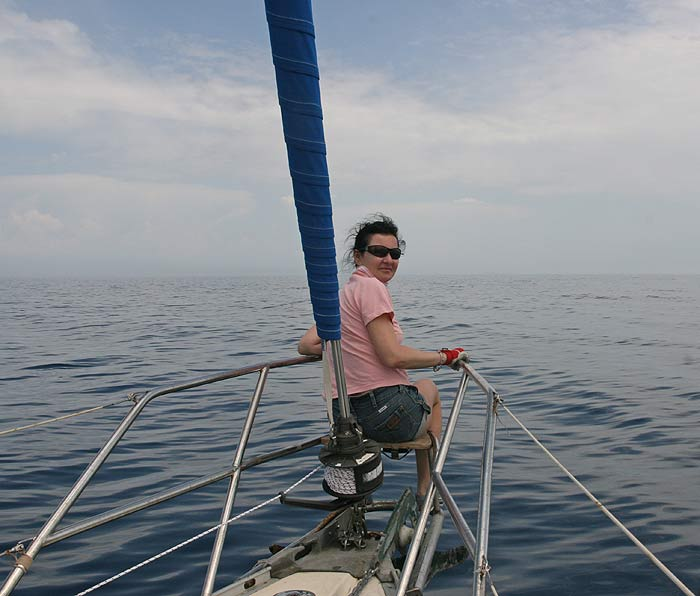Яхта Пепелац. В море. Оксана Сторублёва.