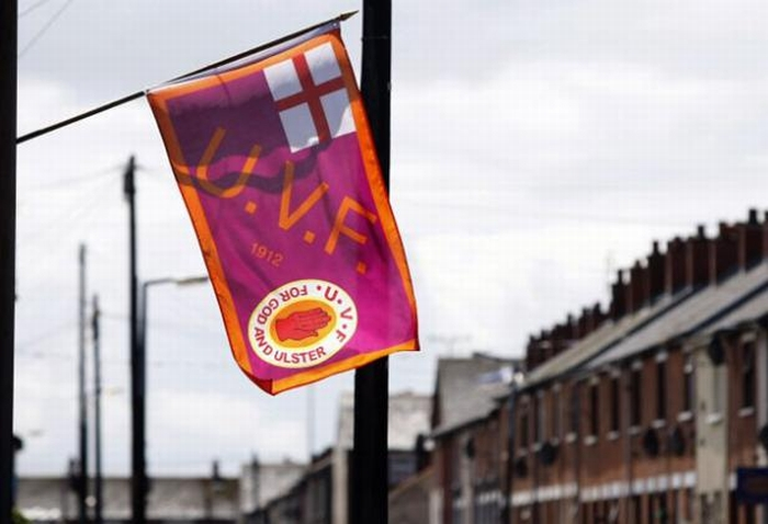 Флажок отморозков из пробританской террорестической организации UVF.