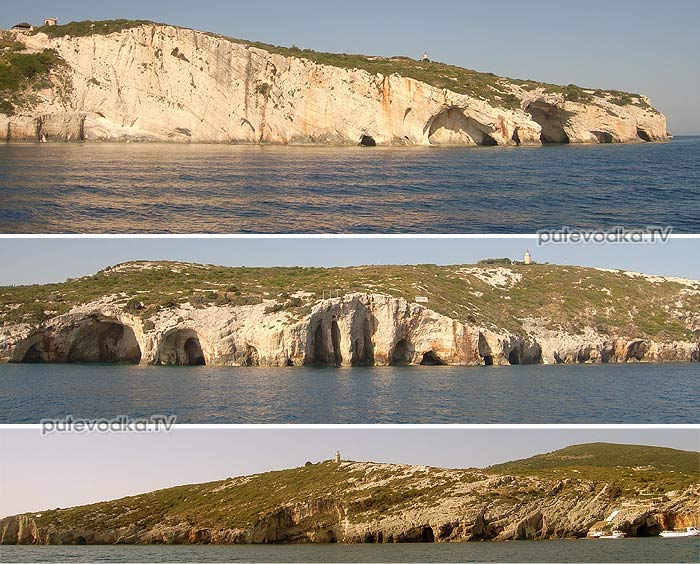 Остров Закинтос (Zante). Вокруг мыса Скинари (Skinari).