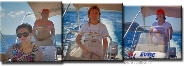 Яхта ПЕПЕЛАЦ. Греция. Ионическое море. Пелопоннес. Пилос.  На катере по Наваринской бухте.