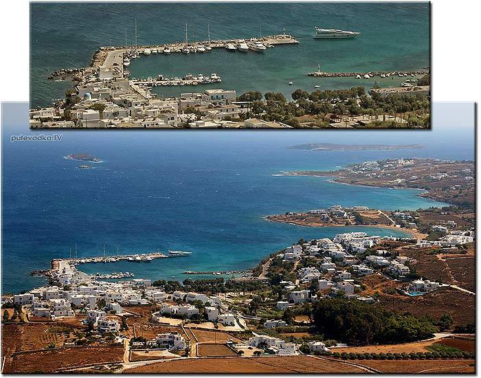 Греция. Эгейское море. Киклады. Остров Парос. Гавань Писсо Ливади близ деревушки Марписса.
