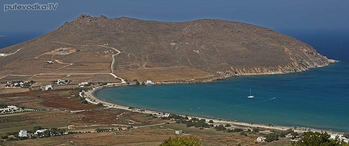 Греция. Эгейское море. Киклады. Остров Парос. Пляж.