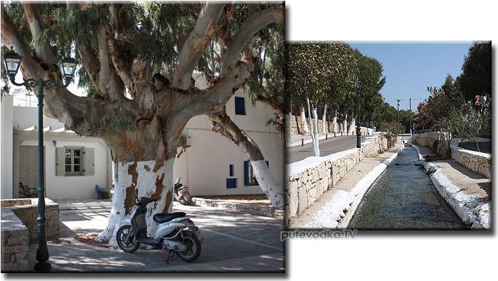 Греция. Эгейское море. Киклады. Остров Парос. Современная Наусса (Науса, Ауза).