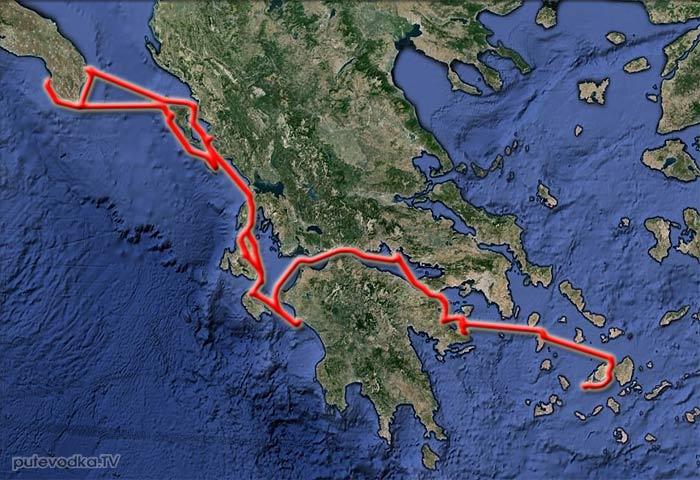 Парус. Карта маршрута 2014