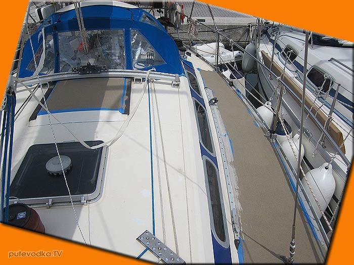 Яхта ПЕПЕЛАЦ. Греция. Нескользящие полосы.