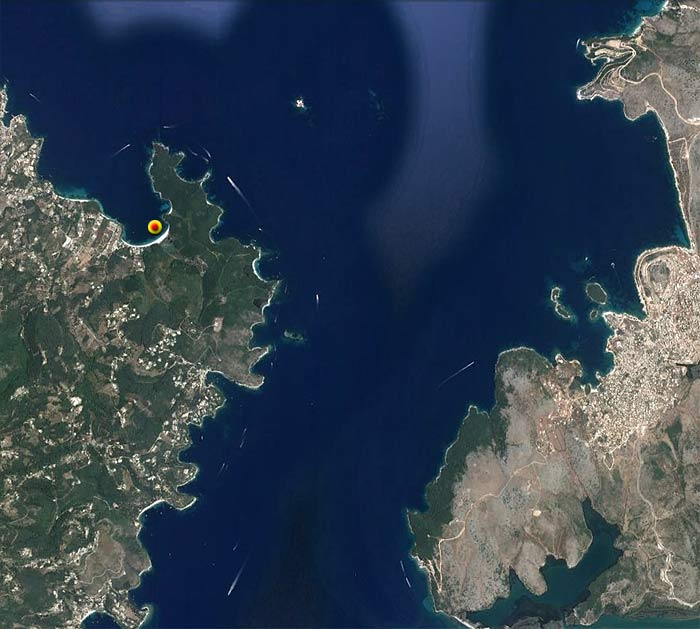Яхта «Пепелац». Судовой журнал. Греция. Остров Керкира (Корфу). Залив Вруалис. Бухта Галиатес.