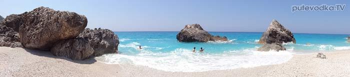 Яхта Пепелац. Греция. О.Лефкас. Пляжи.