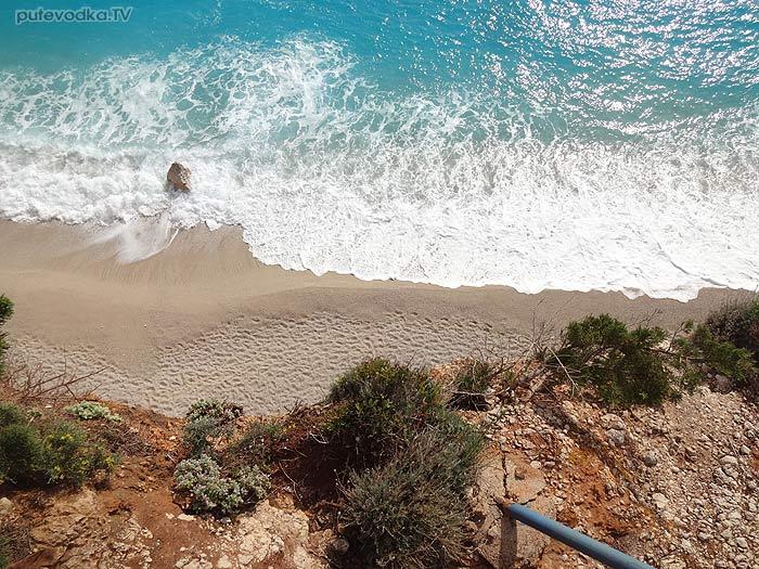 Яхта Пепелац. Греция. О.Лефкас. Пляж Порто Кацики.