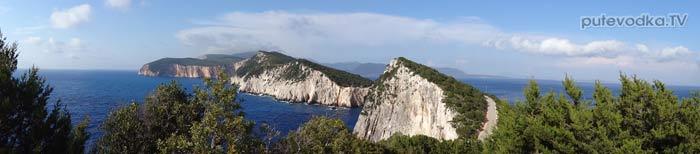 Яхта Пепелац. Греция. О.Лефкас. Вид с маяка Дукато на север.