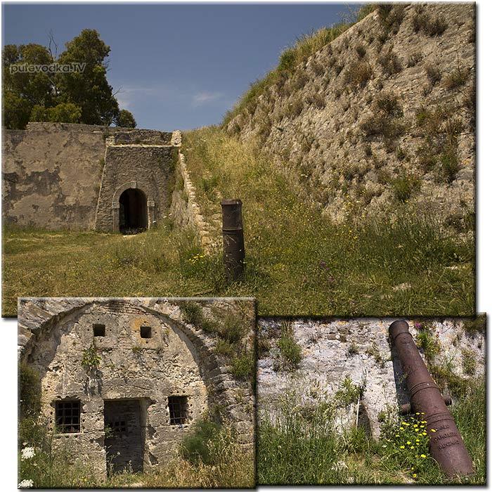 Греция. Лефкас. Форт на северном входе в канал.