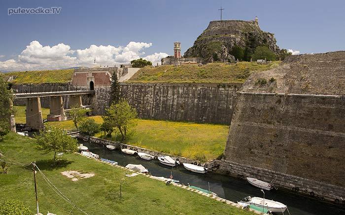 Греция. Яхта «Пепелац». Остров Керкира (Корфу). Крепость.
