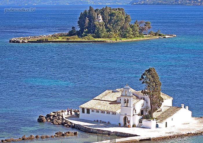 Греция. Яхта «Пепелац». Остров Керкира (Корфу). Церковь Богородицы рядом с аэропортом.