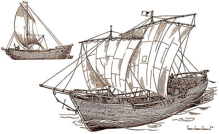 Русская средневековая лодья